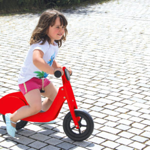 Push-Bike Wood Scooter red