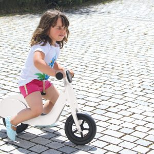 Push-Bike Wood Scooter white