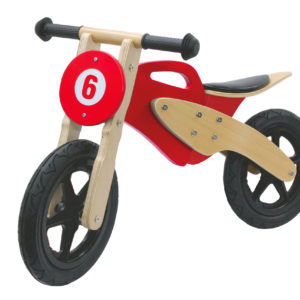 Push-Bike Wood Moto red