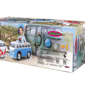 Ride-on VW Bus red-white 27MHz 12V