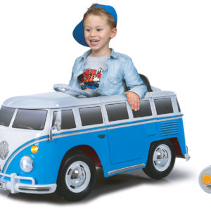Ride-on VW Bus blue-white 27MHz 12V