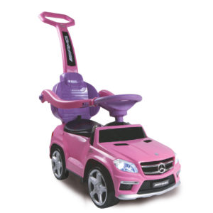 Push-Car Mercedes GL63AMG pink w. push rod