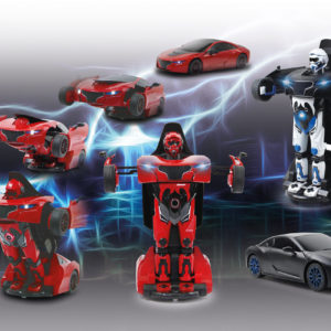 Robicar 1:14 transformable 2,4GHz black